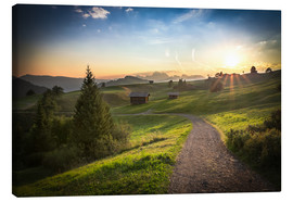 Canvas  Seiser Alm in the morning, South Tyrol - Frank Fischbach