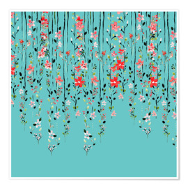 Premium poster Floral Wall