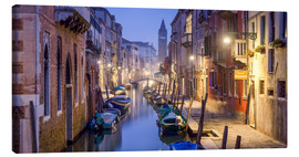 Canvas  Venice panorama at night - Jan Christopher Becke