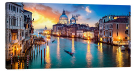 Canvas print  Grand Canal in Venice at night, Italy - Jan Christopher Becke