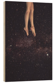 Wood print  Hung in Space - lacabezaenlasnubes