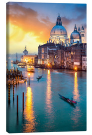 Canvas  Grand Canal with Santa Maria della Salute in Venice, Italy - Jan Christopher Becke