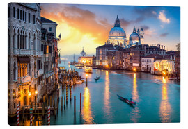 Canvas  Grand Canal at sunset in Venice, Italy - Jan Christopher Becke