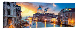 Canvas  Canal Grande panorama in Venice, Italy - Jan Christopher Becke