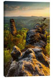 Canvas print  Saxon Switzerland - Sunset - Mikolaj Gospodarek