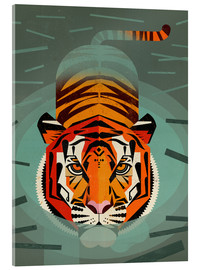 Acrylic glass  SwimmingTiger - Dieter Braun