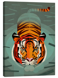 Canvas  Swimming tiger - Dieter Braun