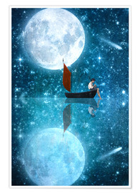 Premium poster The Moon and Me