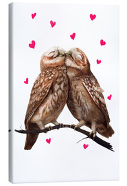 Canvas print  Loving owls - Valeriya Korenkova