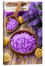 Canvas print  lavender bath salt
