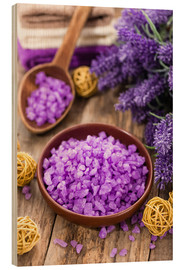 Wood print  lavender bath salt
