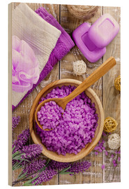 Wood print  Purple relaxation