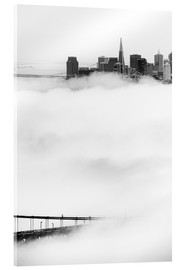 Acrylic print  San Francisco disappeared in the fog