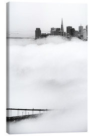 Canvas  San Francisco disappeared in the fog