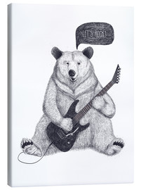 Canvas print  Rocking bear with electric guitar - Valeriya Korenkova