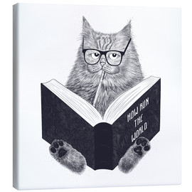 Canvas print  Reading cat - Valeriya Korenkova