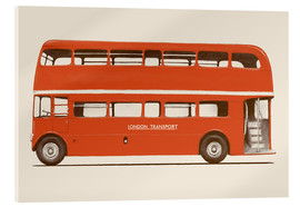 Acrylic print  English Bus   S6   Main - Florent Bodart