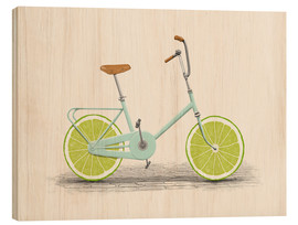 Wood print  Lime Bike - Florent Bodart