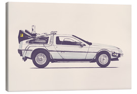 Canvas print  Delorean - Florent Bodart
