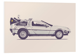 Foam board print  Delorean - Florent Bodart