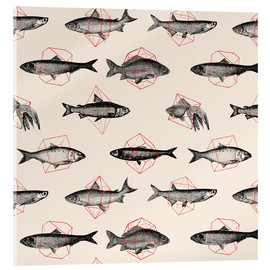 Acrylic print  Fishes In Geometrics - Florent Bodart