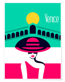 Premium poster Stylish journey - Venice