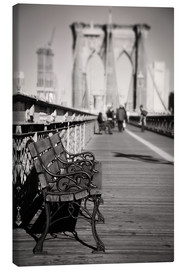 Canvas print  Bench on Brooklyn Bridge - Denis Feiner