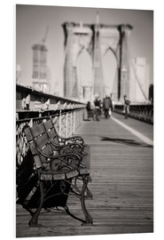 Foam board print  Bench on Brooklyn Bridge - Denis Feiner