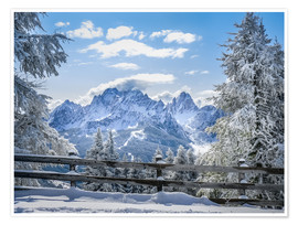 Premium poster  Winter in the Sesto Dolomites, South tyrol, Italy - Christian Müringer