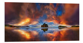 Foam board print  Dream beach Cape Farewell Whanganui New Zealand - Michael Rucker