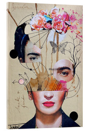 Acrylic print  Frida for Beginners - Loui Jover