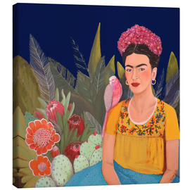 Canvas print  Frida and the blue house II - Sylvie Demers
