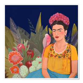 Premium poster Frida and the blue house II