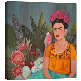 Canvas print  Frida at the blue house - Sylvie Demers