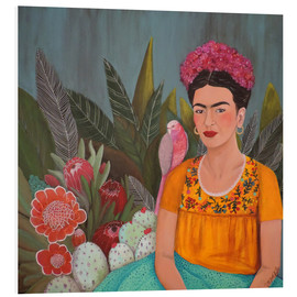 Foam board print  Frida at the blue house - Sylvie Demers