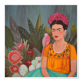 Premium poster  Frida at the blue house - Sylvie Demers