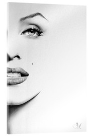 Acrylic glass  Marilyn Monroe minimal portrait - Ileana Hunter
