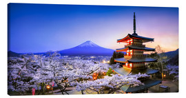 Canvas print  Chureito Pagoda at Mount Fuji in Fujiyoshida, Japan - Jan Christopher Becke