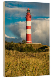 Wood print  Lighthouse on the island Amrum, Germany - Rico Ködder