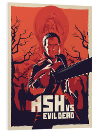 Foam board print  Ash vs. Evil Dead - Fourteenlab