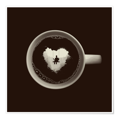Premium poster A heart for coffee