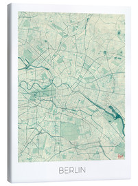 Hubert Roguski - Berlin Map Blue