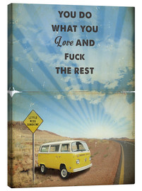 Canvas  Alternative Little Miss Sunshine retro art - 2ToastDesign