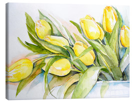 Canvas print  yellow tulip 2 - Maria Földy
