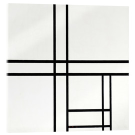 Acrylic print  Composition in White and Black - Piet Mondriaan