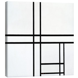 Canvas print  Composition in White, Black, and Red - Piet Mondriaan