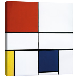 Canvas print  Composition c no iii with red yellow and blue - Piet Mondrian