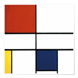 Premium poster Composition c no iii with red yellow and blue