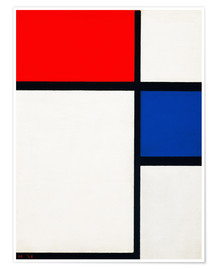 Premium poster  Composition with Yellow, Blue and Red - Piet Mondriaan