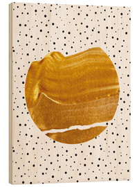 Wood print  Stay gold - Uma 83 Oranges
